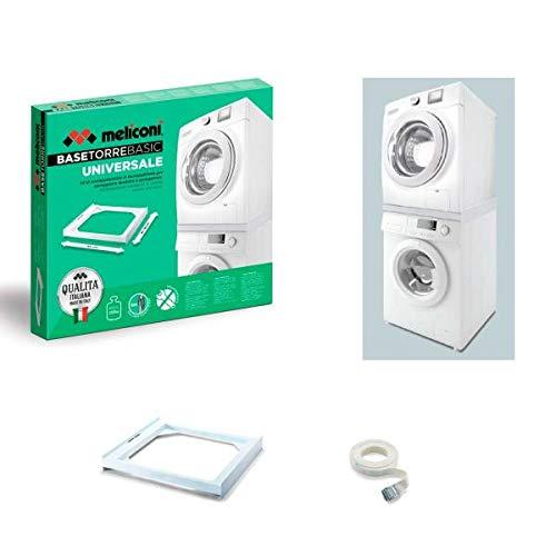 Meliconi Kit Apilado Universal L60 para Lavadora y Secadora, Blanco, 65662
