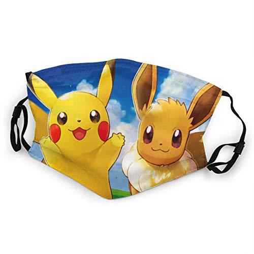 Los geht's Pikachu Mundschutz Anti-Staub Waschbar Wiederverwendbarer Mundschutz Modedesign für Kinder Jungen Mädchen Teenager