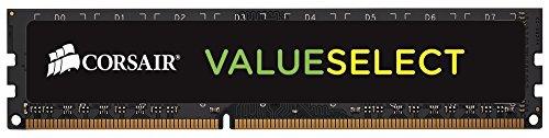 Corsair CMV8GX3M1C1600C11 Value Select 8 Go 1x8GB DDR3 1600Mhz CL11 Mémoire pour ordinateur de bureau Black