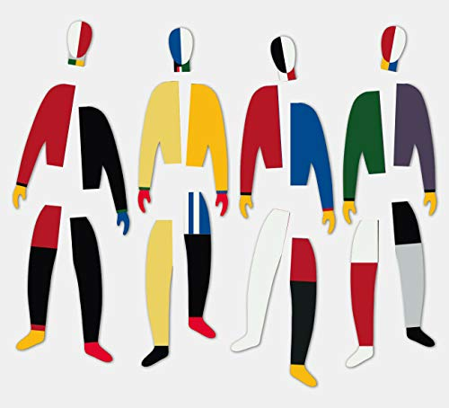 Beamalevich Puzzle-imán Malevich Sportsmeny - Pack de 20 piezas (5 por figura) de las figuras arlequinescas del cuadro de 1931 de Kazimir Malevich