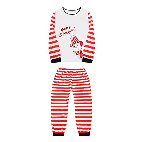 ROYIYI Weihnachten Schlafanzug Familie Damen Herren Kinder Junge Mädchen Pyjamas Set Langarm Nachthemd Top mit Hirsch Aufdruck Loose Schlafhose Schlafanzüge Hausanzug für Familien