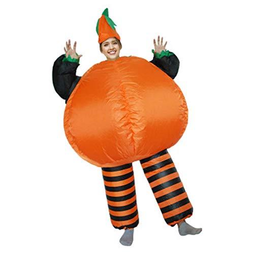 KUANDARM Aufblasbare Kleidung, aufblasbares Halloween-Kürbis-Kostüm, Parodie-Party-Big-Fat-Kostüm, Maskerade-Kostüm, Stage-Prop-Kostüm, Adult