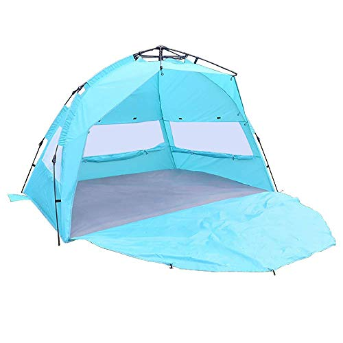Dalovy Lightweight Tent,Outdoor Automatic Pop up Instant Portable Beach Tent Shelter Anti UV Shade Shelter 3-4 Persons