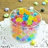 5000 Perlas de Cristal de Gel de Color Aguamarina Que se expanden y absorben de gelatina, increíbles Bolas de jarrón de decoración Orbeez, Bolas mágicas de Crecimiento para decoración del hogar