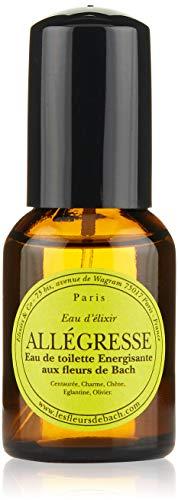 Elixirs & Co - Eau de toilette aux Fleurs de Bach - Bien-être - 100% Naturell - Vegan - Bio - Made in France - Allégresse - Eau de Toilette Energisante - 30ml