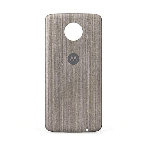 Schutzhülle für Motorola Moto Z4 / Z3 Play / Z3 / Z2 Force / Z2 Play/Z Play/Z Force/Moto Z Droid, Silver Oak Wood