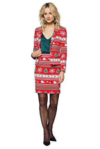 Opposuits Christmas Suits for Women - Winter Woman - Xmas Costumes Include Blazer and Skirt - US 12