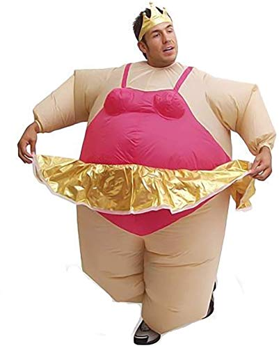 Keepmoving Aufblasbares Fatsuit Ballerina Kostüm für Erwachsene Party Fasching Karneval Halloween Damen Herren Kleidung