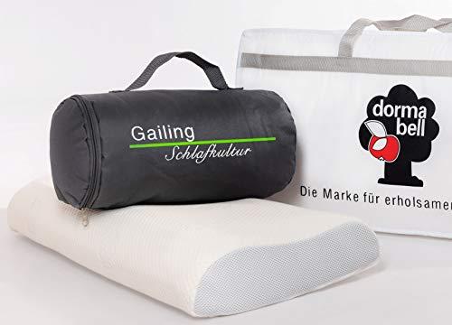 Dormabell Cervical Nackenstützkissen mit gratis Reisetasche und gratis Aufbewahrungstasche (NB2)