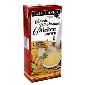 Tabatchnick Classic Wholesome Chicken Broth 32 Oz. Pack Of 3.