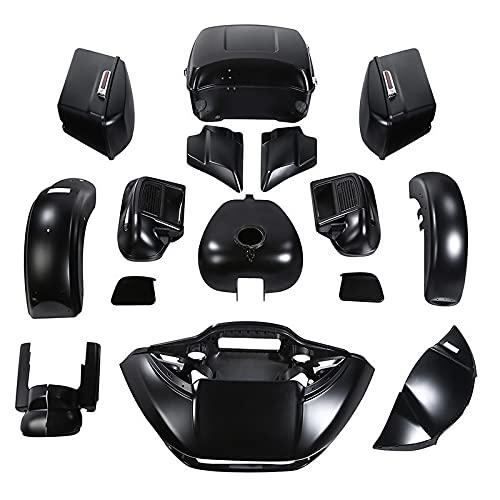 Fairing Body work kit for Harley Road Glide Limited models 2015-2021,for Black Denim color