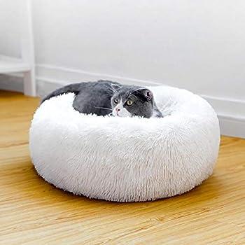 Vivi Bear Coussin Chien Coussin Chat Coussin Rond Chien Extra-Doux Confortable et Mignon,Coussin pour lit de Chat Lavable,Coussin pour Chat Convient Chat et Petit Chien(40cm de diamètre)