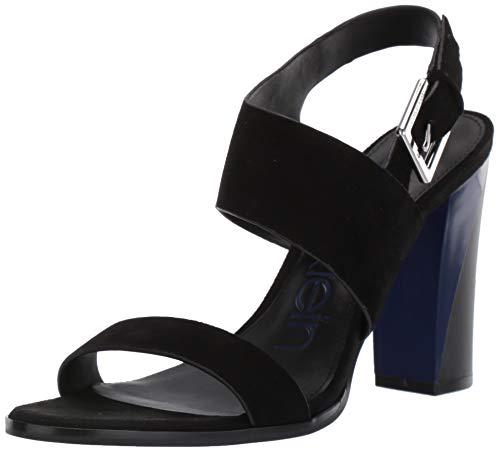 Calvin Klein Damen Carina, Black Kidsuede, 38 EU