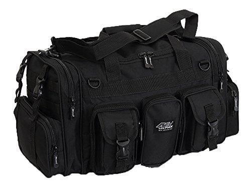 "NPUSA Mens Large 22"" Inch Black Duffel Duffle Military Molle Tactical Gear Shoulder Strap Travel Bag"