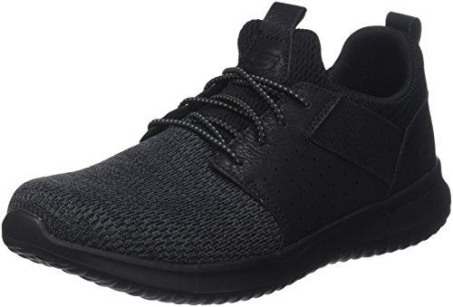 Skechers Men's Classic Fit-Delson-Camden Sneaker,black,11 M US