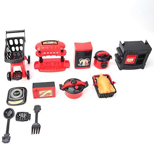 COSIKI Simulierte Küche Essen Geschirr Set, Kinder Kinder Tragbare Simulation Spielzeug Küche Kochen Pädagogisch Vortäuschen Spielzeug