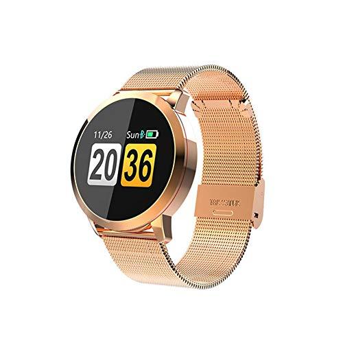 ZYD 2020 New Smart Watch OLED Color Screen Men Fashion Fitness Tracker Heart Rate Monitor Blood Pressure Oxygen Man Women Smart Watch,Gold