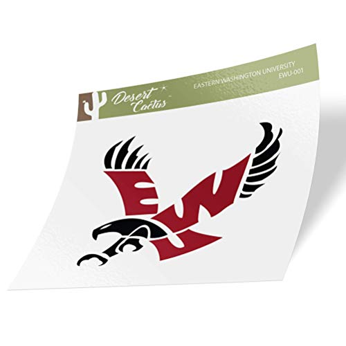 Eastern Washington University EWU Eagles Vinyl Decal Laptop Water Bottle Car Scrapbook (Sticker - 001)