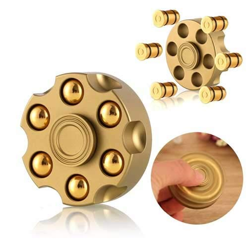Fidget Spinning Revolver Design Spinner Fingertip Gyro Detachable Bullet EDC Rotating Adult Decomression Figer Toy Anti-Anxiety Rotator Toy Relieve Stress Toy