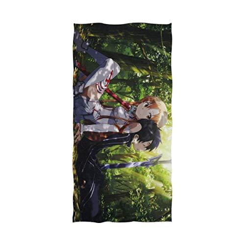 Emily-Shop Schwert Kunst Online Badetuch Strandtuch Übergroße 55 x 32 Zoll Verwendung als Yoga Travel Camping Gym Pool Handtücher auf Strandwagen Strandstühle