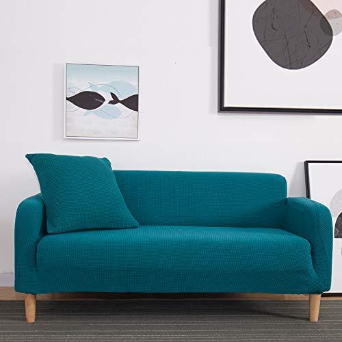 NOBCE Funda de sofá elástica de algodón con Todo Incluido Funda de sofá elástica Funda de sofá Toalla de sofá Funda de sofá para Sala de Estar Azul 90-140CM