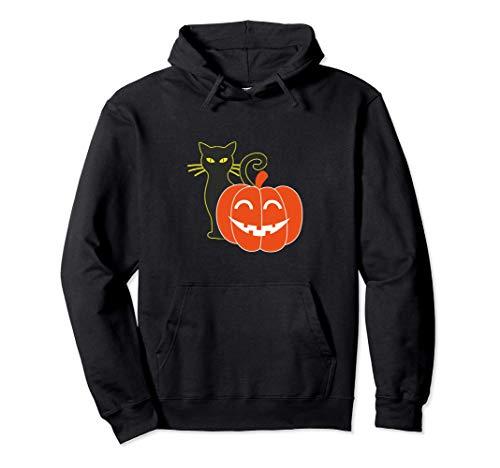 ハロウィン 黒猫微笑みかぼちゃギフト パーカー