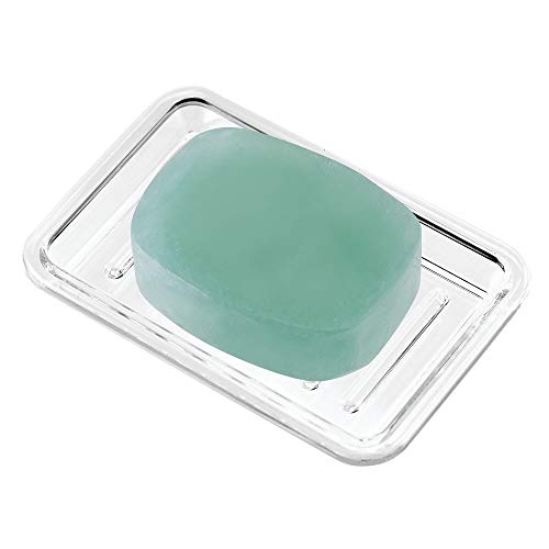 iDesign Royal Plastic Rectangular Soap Saver, Bar Holder Tray for Bathroom Counter, Shower, Kitchen,...