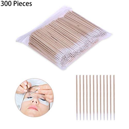 300 Pièces En Bois Poignée Coton Swab Tattoo Supplies Permanent Coton-tige Maquillage Bâtons Cosmétiques Pour Le Maquillage Assistant De Tatouage De Sourcil