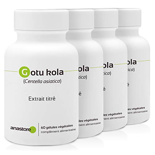 CENTELLA ASIÁTICA (GOTU KOLA) * OFERTA 3+1 GRATIS * 100 mg / 240 cápsulas * Titulado al 20% en triterpenos, 8% en asiaticósido y 5.5% en madecasósido * Cardiovascular