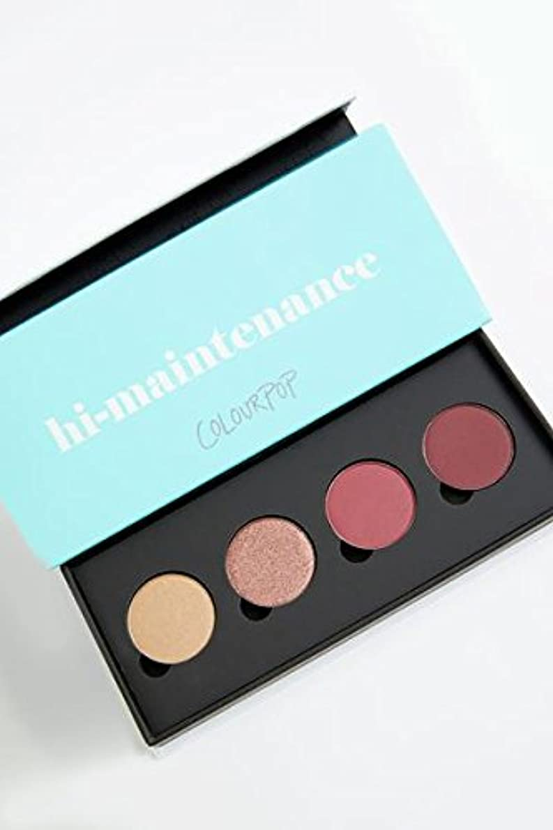 レタッチ静けさ句カラーポップ Colourpop Hi-Maintenance Pressed Powder Shadow Palette