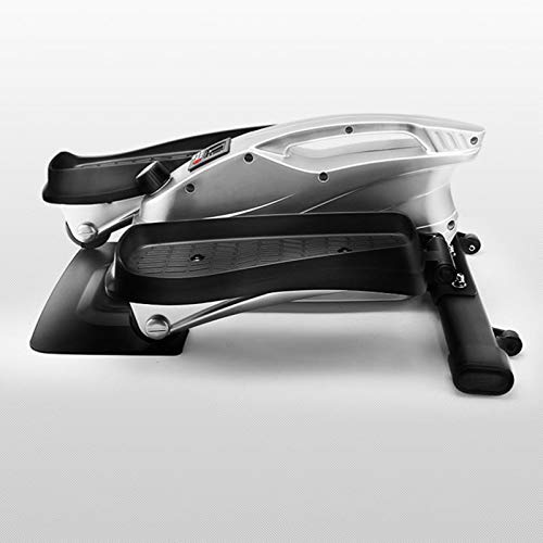 mini stepper Paso A Paso Elíptico Con Máquina De Pedal De Silencio De Resistencia Ajustable Infinita Con Controlador LED Equipo De Fitness Multifuncional Con Soporte De Peso De 150 KG(Color:Plata)