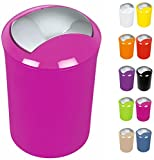 """Spirella Design Kosmetikeimer 10.15360""""Sydney mit Schwingdeckel 5 Liter (ØxH): 19 x 30 cm Pink"""