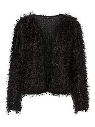 Vero Moda Cazadora Mujer Negro 10220800 VMTULLY LS Cardigan JRS BF Black