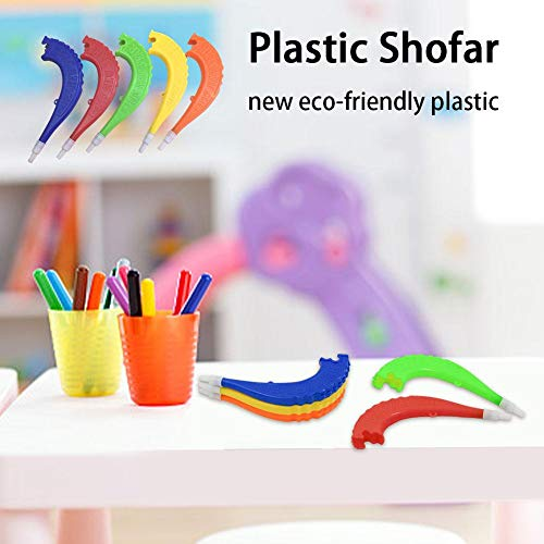 voloki Kleine Plastiklautsprecher, Shofar Shape Plastic Horn Toys, Kinderspielzeug, Sportstätten Impart