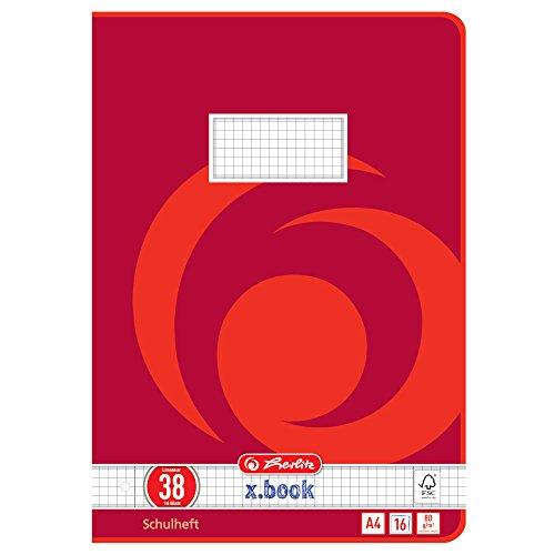 Herlitz 3323805 Schulheft  (A4/16 Lineatur 38 (gelocht)) 16 Blatt,  10er Packung