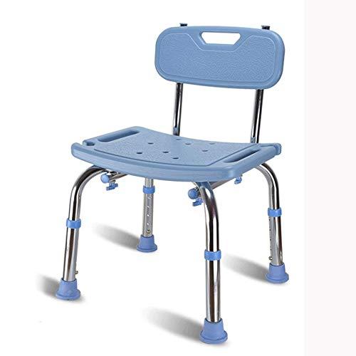 Diaod Taburete for baño: Silla de Ducha de Seguridad for baño, Banco de Transferencia Antideslizante for Ducha sin Herramientas, Taburete de Ducha Ajustable (Color : Blue)