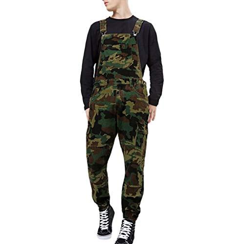 Minikimi jeans lange jeansbroek voor heren, retro denim, camouflage, overalls, skinny fit, streetwear stone-washed breken, werkbroek jumpsuit