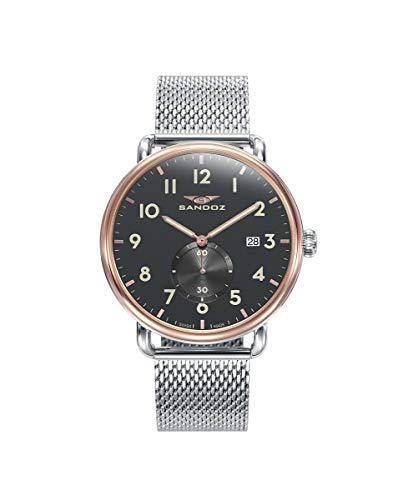 Sandoz - Reloj Acero IP Rosa Brazalete Sr Antique Sa - 81493-54