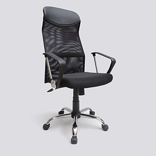 Bureaustoel 'DIRECTEUR 2.0' zwart, in hoogte verstelbaar, 5 zwenkwielen, 62 x 120 x 48 cm