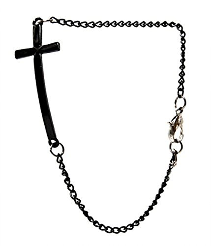 Demarkt Armband Armreif Blogger Bettelarmband Armkette Kette Kreuz Armband in Schwarz
