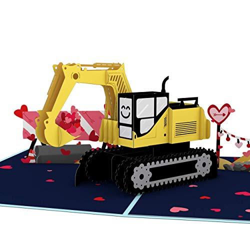 Lovepop I Dig You Pop Up Karte – 3D-Karten, Valentinstagskarten, Pop-Up-Karte, Karte für Ehefrau, Jubiläumskarte, Romantikkarte, Valentinstag Pop-Up-Karte
