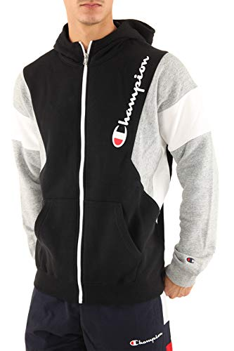 Champion Herren Hooded Full Zip Sweatshirt Schwarz S
