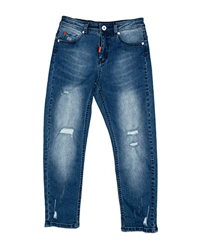GULLIVER Boys Jeans Kids Denim Pants Blue Trousers Stone Washed Regular Cotton for 3-8 Years