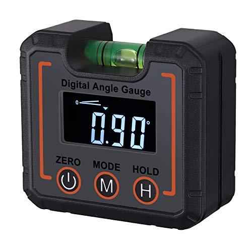 Justech Inclinómetro Digital Impermeable IP42 con VA LCD Pantalla Buscador de Ángulo con Burbujas Horizonales Transportador de Ángulos con Base Magnética Medidor de Ángulos Digital