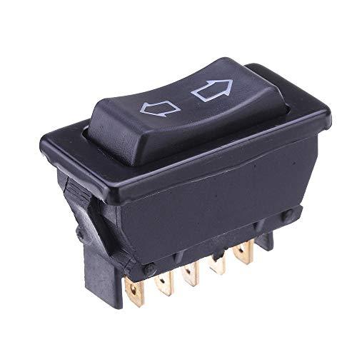 WZhen Universal Dpdt Coche Power Window Interruptor Bastor 5 Pines Dc 12V 20A Negro Plástico