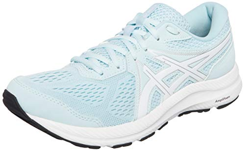 Asics Gel-Contend 7, Road Running Shoe Mujer, Aqua Angel/White, 39.5 EU
