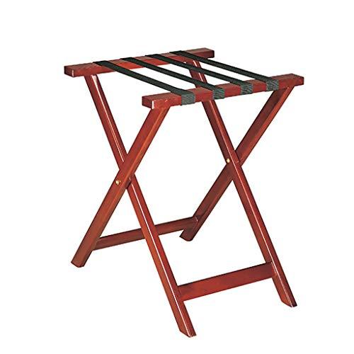 Fantastic Deal! ZCCXLJ Hotel Guest Room Solid Wood Luggage Rack Family Bedroom Shelf Practical Folda...