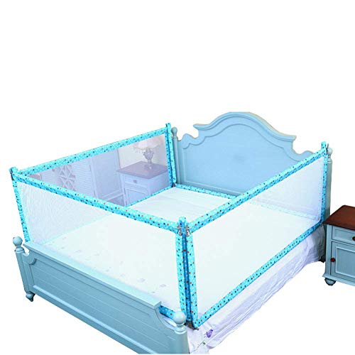 New Z-SEAT Folding Bedrail for Toddler, 3-Side Extra Long Bed Guard with Double Lock, Sleep Crib Rai...