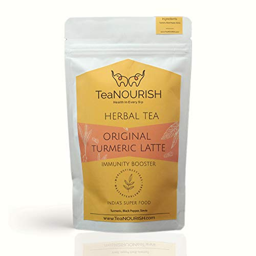 TeaNOURISH Original Turmeric Latte Herbal Tea   Immunity Booster   100% NATURAL INGREDIENTS (100gm)