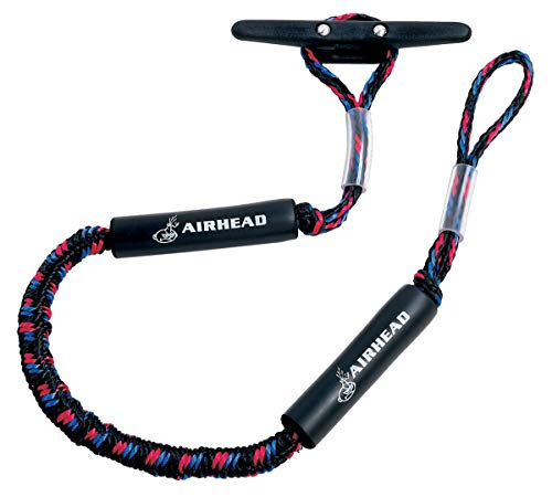 Airhead Bungee Dock Line, 6 ft., Black/blue/red (AHDL-6)